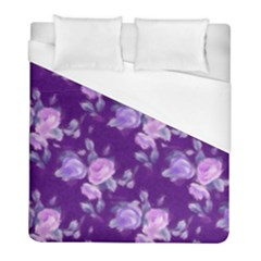 Vintage Roses Purple Duvet Cover Single Side (twin Size) by MoreColorsinLife