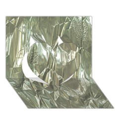 Crumpled Foil Heart 3d Greeting Card (7x5)  by MoreColorsinLife