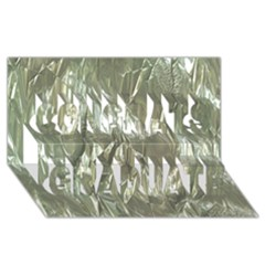 Crumpled Foil Congrats Graduate 3d Greeting Card (8x4)  by MoreColorsinLife