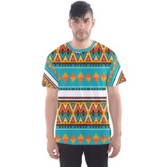 Tribal design in retro colors Men s Sport Mesh Tee by LalyLauraFLM