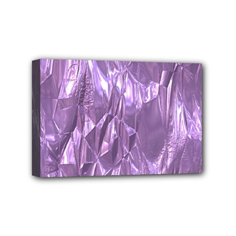 Crumpled Foil Lilac Mini Canvas 6  X 4  by MoreColorsinLife