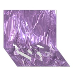 Crumpled Foil Lilac Love Bottom 3d Greeting Card (7x5)  by MoreColorsinLife