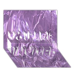 Crumpled Foil Lilac You Are Invited 3d Greeting Card (7x5)  by MoreColorsinLife