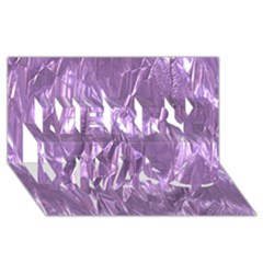 Crumpled Foil Lilac Merry Xmas 3d Greeting Card (8x4)  by MoreColorsinLife