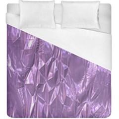 Crumpled Foil Lilac Duvet Cover Single Side (KingSize) by MoreColorsinLife