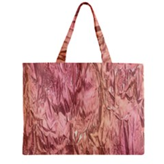 Crumpled Foil Pink Zipper Tiny Tote Bags by MoreColorsinLife