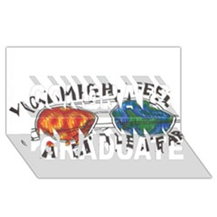 Little fear Congrats Graduate 3D Greeting Card (8x4)  by northerngardens