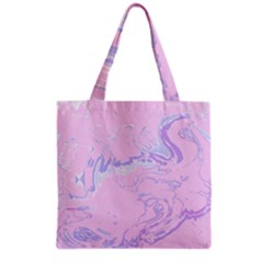Unique Marbled 2 Baby Pink Grocery Tote Bags by MoreColorsinLife