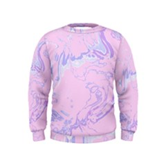Unique Marbled 2 Baby Pink Boys  Sweatshirts by MoreColorsinLife