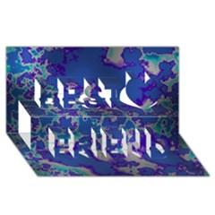 Unique Marbled Blue Best Friends 3d Greeting Card (8x4)  by MoreColorsinLife