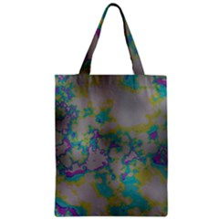 Unique Marbled Candy Zipper Classic Tote Bags by MoreColorsinLife