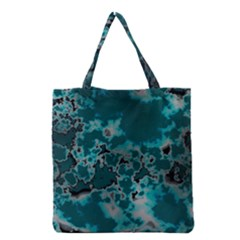 Unique Marbled Teal Grocery Tote Bags by MoreColorsinLife