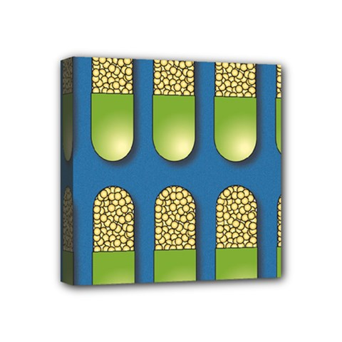 Capsule Pattern Mini Canvas 4  x 4  by theimagezone