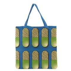 Capsule Pattern Grocery Tote Bags by theimagezone