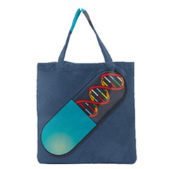 Dna Capsule Grocery Tote Bags by theimagezone