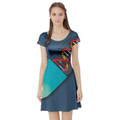 Dna Capsule Short Sleeve Skater Dresses by theimagezone