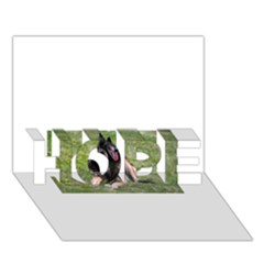Belgian Tervuren Laying HOPE 3D Greeting Card (7x5)  by TailWags