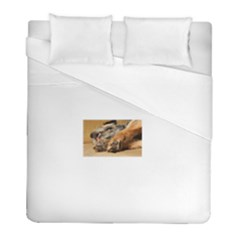 Border Terrier Sleeping Duvet Cover Single Side (Twin Size) by TailWags