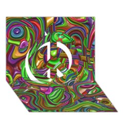 Art Deco Peace Sign 3d Greeting Card (7x5)  by MoreColorsinLife