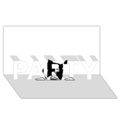 Peeping Boston Terrier PARTY 3D Greeting Card (8x4)  by TailWags