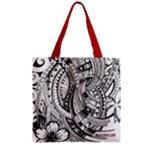 Tote - Ali - Zipper Grocery Tote Bag