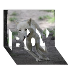 White Wolf Boy 3d Greeting Card (7x5) by MoreColorsinLife