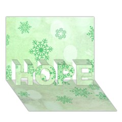 Winter Bokeh Green HOPE 3D Greeting Card (7x5)  by MoreColorsinLife