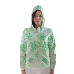 Winter Bokeh Green Hooded Wind Breaker (women)	 by MoreColorsinLife
