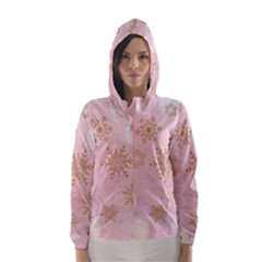Winter Bokeh Pink Hooded Wind Breaker (women)	 by MoreColorsinLife