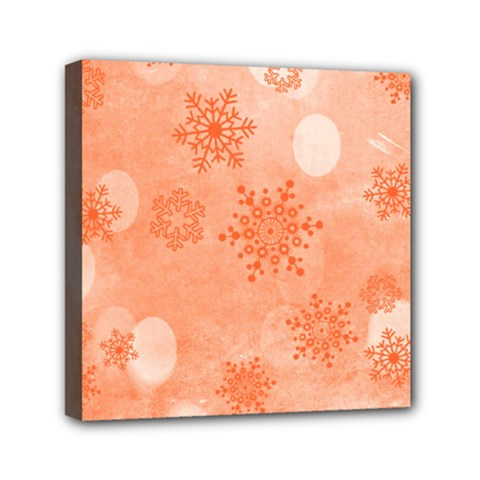 Winter Bokeh Red Mini Canvas 6  X 6  by MoreColorsinLife