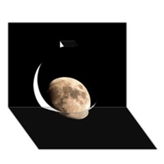 Half Moon Circle 3d Greeting Card (7x5)  by timelessartoncanvas
