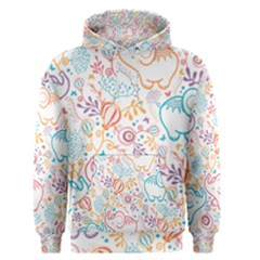 Cute Pastel Tones Elephant Pattern Men s Pullover Hoodies by Dushan