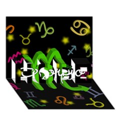 Scorpio Floating Zodiac Name Hope 3d Greeting Card (7x5)  by theimagezone
