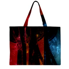 Colorful Space Needle Zipper Tiny Tote Bags by stineshop