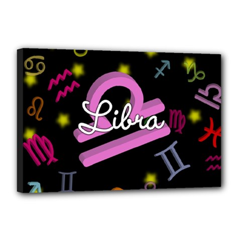 Libra Floating Zodiac Name Canvas 18  x 12  by theimagezone
