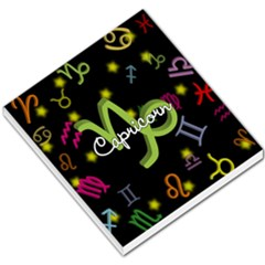 Capricorn Floating Zodiac Name Small Memo Pads by theimagezone