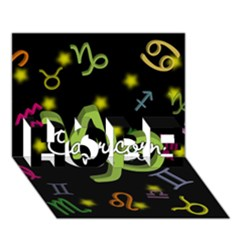 Capricorn Floating Zodiac Name Hope 3d Greeting Card (7x5)  by theimagezone