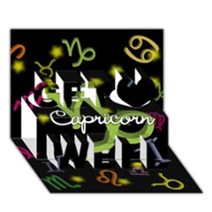 Capricorn Floating Zodiac Name Get Well 3d Greeting Card (7x5)  by theimagezone