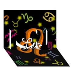 Leo Floating Zodiac Name I Love You 3d Greeting Card (7x5)  by theimagezone