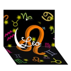 Leo Floating Zodiac Name Circle 3d Greeting Card (7x5)  by theimagezone