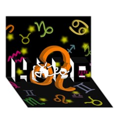 Leo Floating Zodiac Name Hope 3d Greeting Card (7x5)  by theimagezone