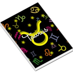 Taurus Floating Zodiac Name Large Memo Pads by theimagezone