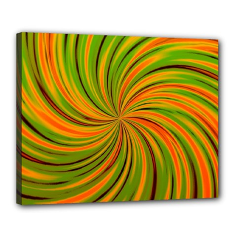 Happy Green Orange Canvas 20  x 16  by MoreColorsinLife