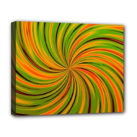 Happy Green Orange Deluxe Canvas 20  X 16   by MoreColorsinLife