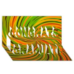 Happy Green Orange Congrats Graduate 3d Greeting Card (8x4)  by MoreColorsinLife