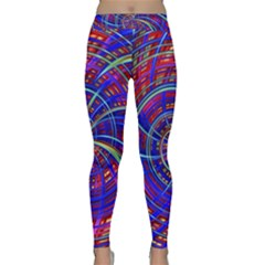 Happy Red Blue Yoga Leggings by MoreColorsinLife