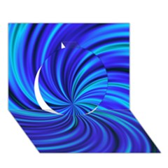 Happy, Blue Circle 3d Greeting Card (7x5)