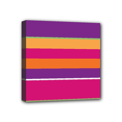 Jagged Stripes Mini Canvas 4  X 4  (stretched) by LalyLauraFLM