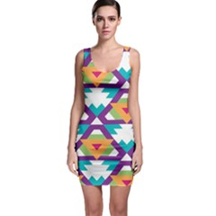 Triangles and other shapes pattern Bodycon Dress by LalyLauraFLM
