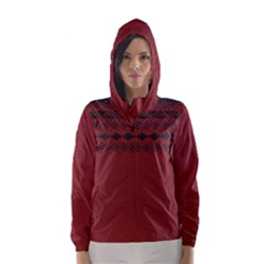 Aztec Red Hooded Wind Breaker (women)	 by maemae